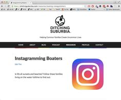 #DitchingSuburbia because you can live on a boat!  We just posted a new resources page with all of the fulltime boating families we could find on Instagram. If you live on the water with kids or teens let us know ! #boatlife #sailing #cruisingwithkids #cruising #boating #liveaboard