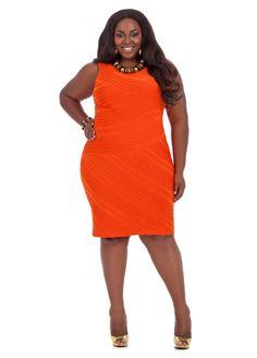 Textured Knit Lined Bodycon Dress - Ashley Stewart