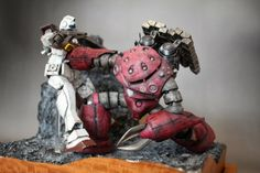 GUNDAM GUY: MG 1/100 Char's Z'Gok Vs. GM - Diorama