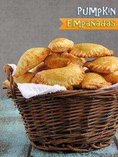 Pumpkin+Empanadas- pumpkin puree, sugar, cinnamon, nutmeg, cloves, vanilla extract, salt, butter, flour, sugar, salt, butter, eggs, milk