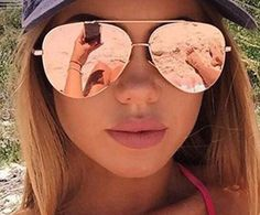 Women's Rose Gold Oversized Mirrored Aviatior Sunglasses – SK Tack & Supply