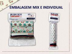 Você encontra REDEEX Aplik Tecidos Adesivados em embalagem Mix (com 3 unidades de 15cm x 1m) e individual com rolo de 15cm x 1m.
