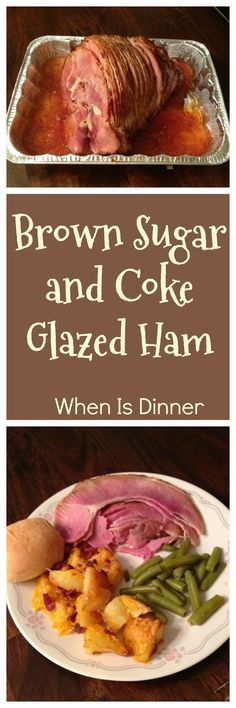 This Brown Sugar and Coke Glazed Baked Ham is perfect for Easter Brunch, Thanksgiving Dinner, Christmas Dinner, or any special occasion. It's also great for potluck meals or dropping off when our PTO feeds the Teachers before Parent/Teacher Conference night, because it's simple and easy to make, and goes a long way! via @Kdkaren