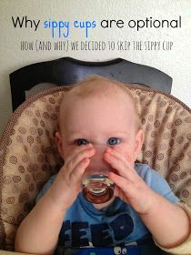 Munchkins and Moms: Skipping the sippy cup- again