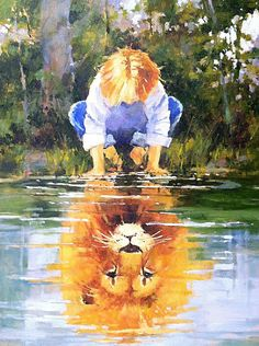 Prophetic Art by Marilyn Simandle -- ja m says: I May Yet be Small, but in CHRIST, Noble and Mighty am I!