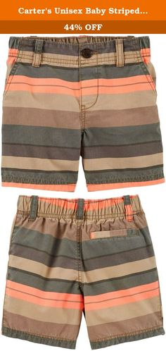 Carter's Unisex Baby Striped Shorts (Baby) - Green Stripe - 6M. Carters Striped Shorts (Baby) - Green Stripe Carter's is the leading brand of children's clothing, gifts and accessories in America, selling more than 10 products for every child born in the U.S. Their designs are based on a heritage of quality and innovation that has earned them the trust of generations of families.