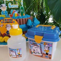 Esse foi o kit lanche escolar para o Rafael!!! Nesse levamos o bolo, o lanchinho na maletinha, a squeeze e as bebidas!!! Festinha na escola!!!! Bolo para a festinha do Rafael. Obrigada Drica pela confiança mais um ano!!! Parabéns Rafa!! #meninomaluquinho #bolomeninomaluquinho #festanaescola #kitlanche #kitlancheescolar #festamanaus #festameninomaluquinho #ideiasmeninomaluquinho #festanaescolamanaus