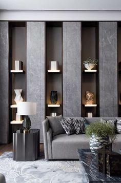 Living Room Tv, Living Room Interior, Office Interior Design, Interior Decorating, Interior Designing, Bookshelf Design, Interior Inspiration, Living Room Designs, Furniture Design