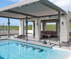 Caribbean News, Latin America News Rooftop Terrace, Latin America, Luxury Villa, Caribbean, Furniture Design, Louvre, Real Estate, Mansions, Outdoor Decor