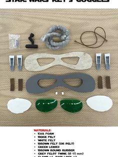 STAR WARS Rey's Goggles Blueprints