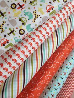 Oh Boy fabric bundle by Riley Blake Fabrics-Fat Quarter Bundle- 6 total on Etsy, $18.00