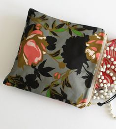 Peony Print Zipper Pouch by Elizabeth Grubaugh on Scoutmob