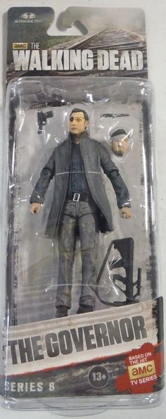 Todd McFarlane toys AMC's THE WALKING DEAD 2014 series 6, THE GOVERNOR NEW still factory sealed in the original package. figure size: approx. 5 inches tall condition: Package is in overall great condi