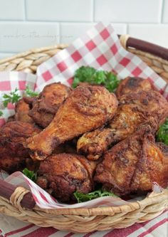 Southern Fried Chicken - a low carb, gluten free, dairy free, keto friendly recipe from ibreatheimhungry.com