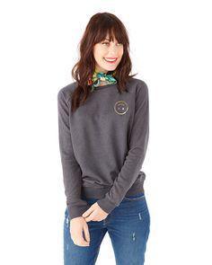 smiley sweatshirt - black by ban.do - sweatshirt - ban.do