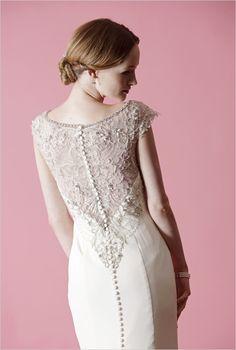 Lace backs make us happy. Badgley Mishka spring 2013 wedding dress collection