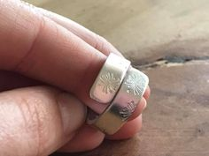 Custom wide band ring with a variety or stamping options! Each ring is made to size. www.sibellejewelry.etsy.com
