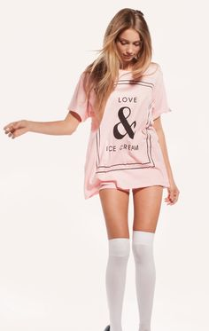 love and ice cream pajama shirt