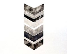 Check out FREE shipping! Original Striped Chevron Watercolor Painting or Print / nate berkus inspired on tribalink