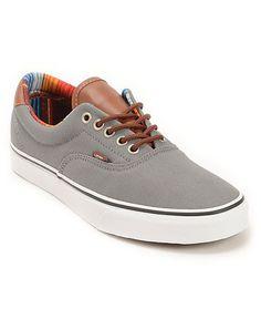 ad36e3c9b5 Vans Era 59 C L Steel Grey   Multi Stripe Skate Shoes