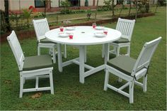Regency Collection Round Dining Table With 4 Chairs SET P16