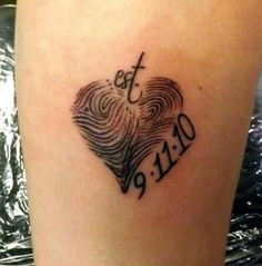 Creative Finger Print Tattoo