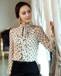 604871e5fd Resultado de imagen para blusas elegantes en chifon manga larga