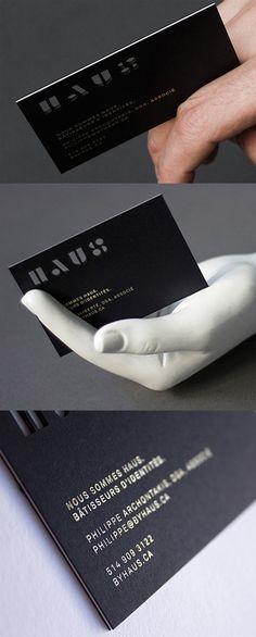 Striking Black Laser Cut Business Card For A Design Studio