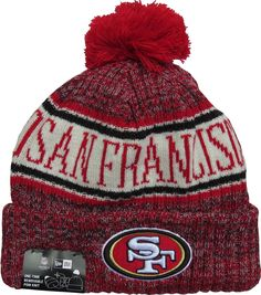 promo code 94713 8be24 San Francisco 49ers New Era NFL On Field 2018 Sport Knit Bobble Hat