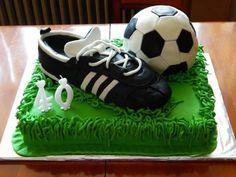 Torta de cumpleaños de fútbol   Diseño imágenes