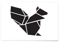 Origami Eichhoernchen als Premium Poster von Eulenschnitt | JUNIQE
