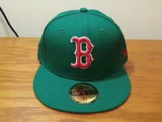 New Era 59Fifty Boston Red Sox St Patricks Day Hat Cap 7 1/4 Fitted MLB Baseball