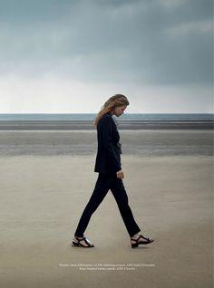 Beside the Silver Sea - Hollie May Saker by Agnes Popieszynska for Harper's Bazaar UK July 2016 - Christopher Kane