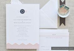 Chevron Wedding Invitations by paperwhitespress on Etsy, $5.00