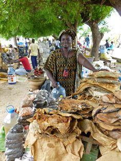 Poisson séché, marché malien de Dakar, Sénégal