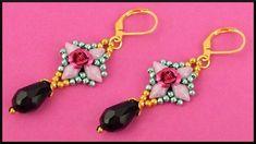 DIY | Perlen Ohrringe mit Tropfen Perle | Beaded gemduo earrings with te...