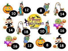 Halloween Double Math Bump Game product from Grandma-Bugs on TeachersNotebook.com
