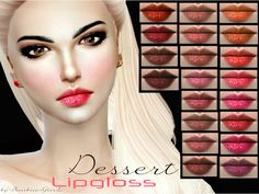 The Sims Resource: Dessert Lipgloss by Baarbiie-GiirL • Sims 4 Downloads