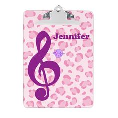 Pink & Purple Music Clipboard, by MoonDreams Music #clipboard #backtoschool #college #dorm #schoolsupplies #music #moondreamsmusic