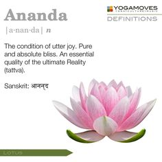 Ananda bliss. The meaning of my name.