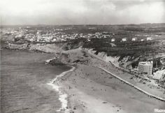 Praia Grande, 1965 Azenhas Do Mar, Surf, Historical Photos, Lisbon, Mystic, Portugal, Castle, Grande, Beach