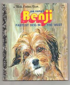 "Vintage Golden Book ""Joe Camp's Benji fastest dog in the west"" 1978"