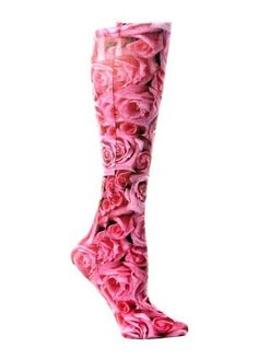 Celeste Stein Therapeutic Compression Socks, Sweetheart Roses, 8-15 mmhg, 1-Pair by Celeste Stein, http://www.amazon.com/dp/B00CPO4L4U/ref=cm_sw_r_pi_dp_Y6casb1PWZRX5