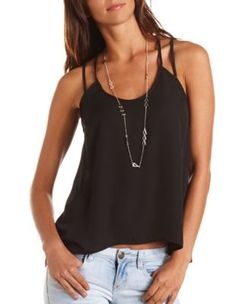 cage-back chiffon tank from Charlotte Russe