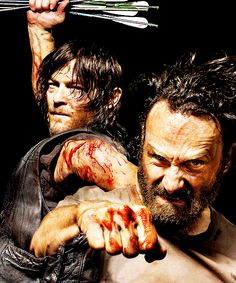"Daryl & Rick.  The differences in their faces... Daryl is so Zen about it, effortless. :)  ""Am I the only one Zen around here?!"""