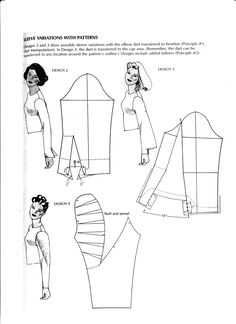 sleeves pattern. Patrón de manga.