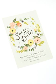 Floral save-the-date! Save-the-date by Rifle Paper Co.