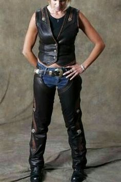 Girlfriend leather chaps