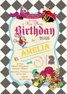 queen of hearts alice in wonderland invitations   peaberrydesigns) - Alice in Wonderland Invitation - PROOF -