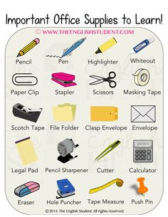 The English Student, www.theenglishstudent.com, ESL blogs, ESL website, ESL teaching ideas, ESL vocabulary, teaching vocabularies, learn English, office supplies, names of different stationaries, stationary,